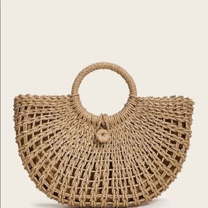New!! Boho Woven moon shaped bag